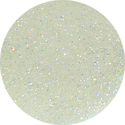 Farebný akryl trblietavý - Y pearl white glitter
