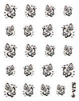 Nálepky Black kamienkové - Motýliky SJA-9