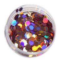 Konfety hexagony plné - M9 staroružové