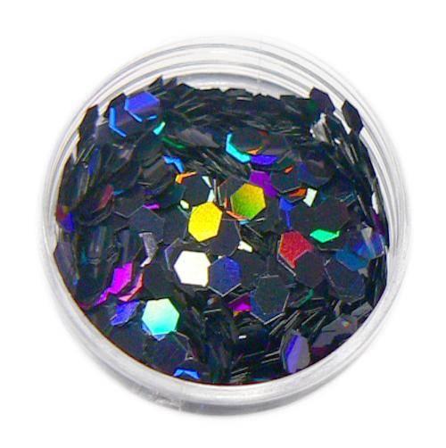 Konfety hexagony plné - M10 čierne