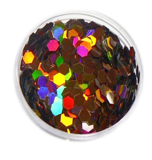 Konfety hexagony plné - M11 hnedé