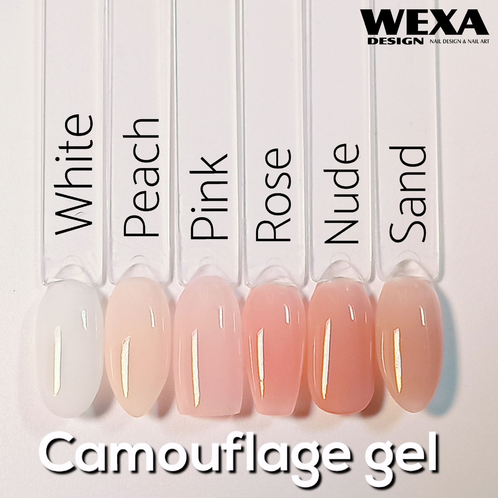 Camouflage builder UV/LED gel - Peach 50ml