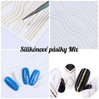 Pružné silikónové pásiky Mix