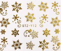 Vianočné vodolepky STZ-Y12 gold