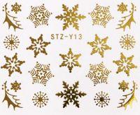 Vianočné vodolepky STZ-Y13 gold