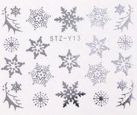 Vianočné vodolepky STZ-Y13 silver