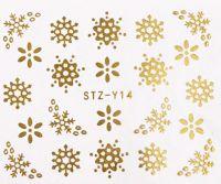 Vianočné vodolepky STZ-Y14 gold