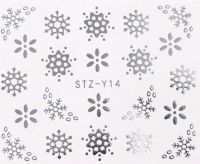 Vianočné vodolepky STZ-Y14 silver