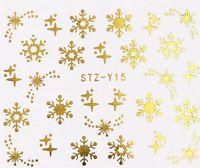 Vianočné vodolepky STZ-Y15 gold