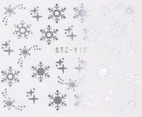 Vianočné vodolepky STZ-Y15 silver