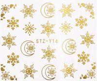 Vianočné vodolepky STZ-Y16 gold