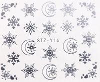 Vianočné vodolepky STZ-Y16 silver