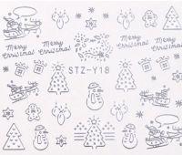 Vianočné vodolepky STZ-Y18 silver