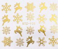 Vianočné vodolepky STZ-Y25 gold