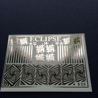 ECLIPSE Metalické vodolepky F15 silver