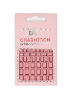 Charmicon 3D Silicone Stickers #113 Square Black