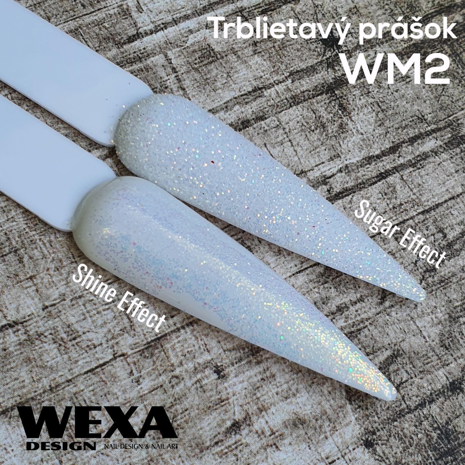 Trblietavý prášok na nechty WM2 - zlato farebné odlesky