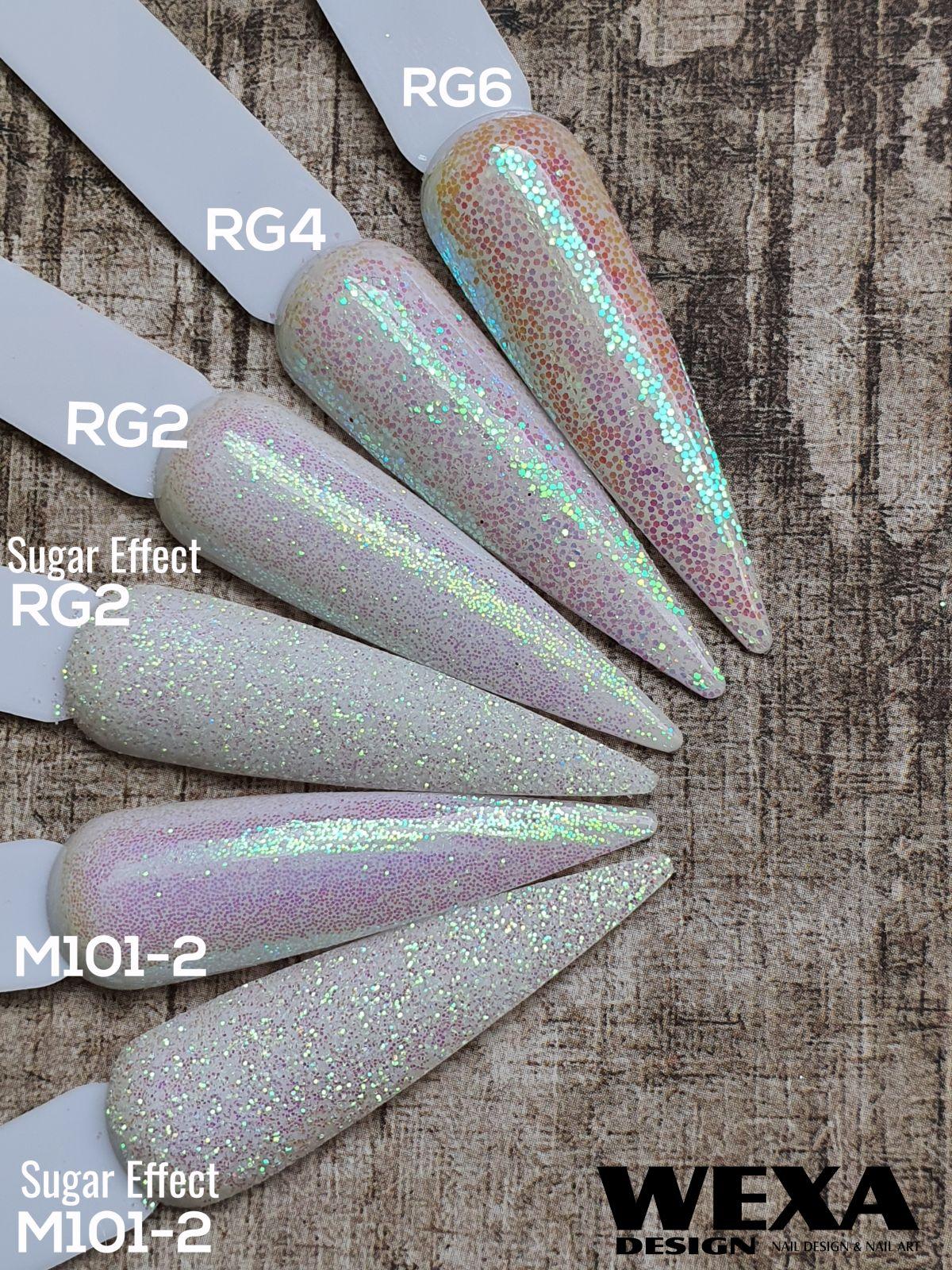 Trblietavý prášok na zdobenie nechtov RG - farebné odlesky