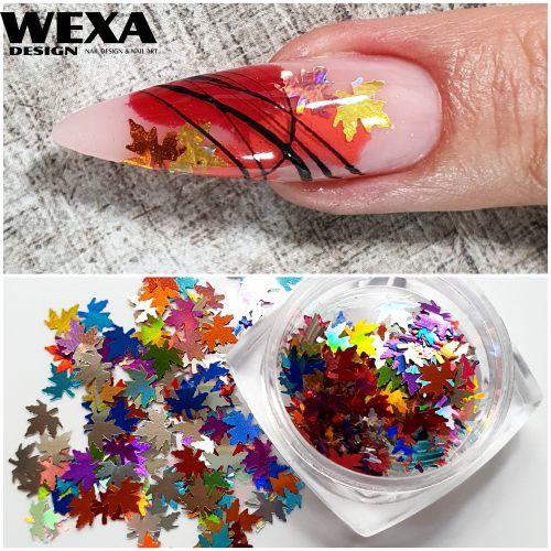 Konfety na nechty Lístočky MIX