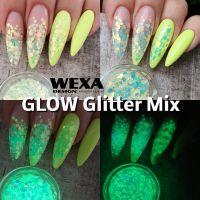 Fosforový Glitter Mix