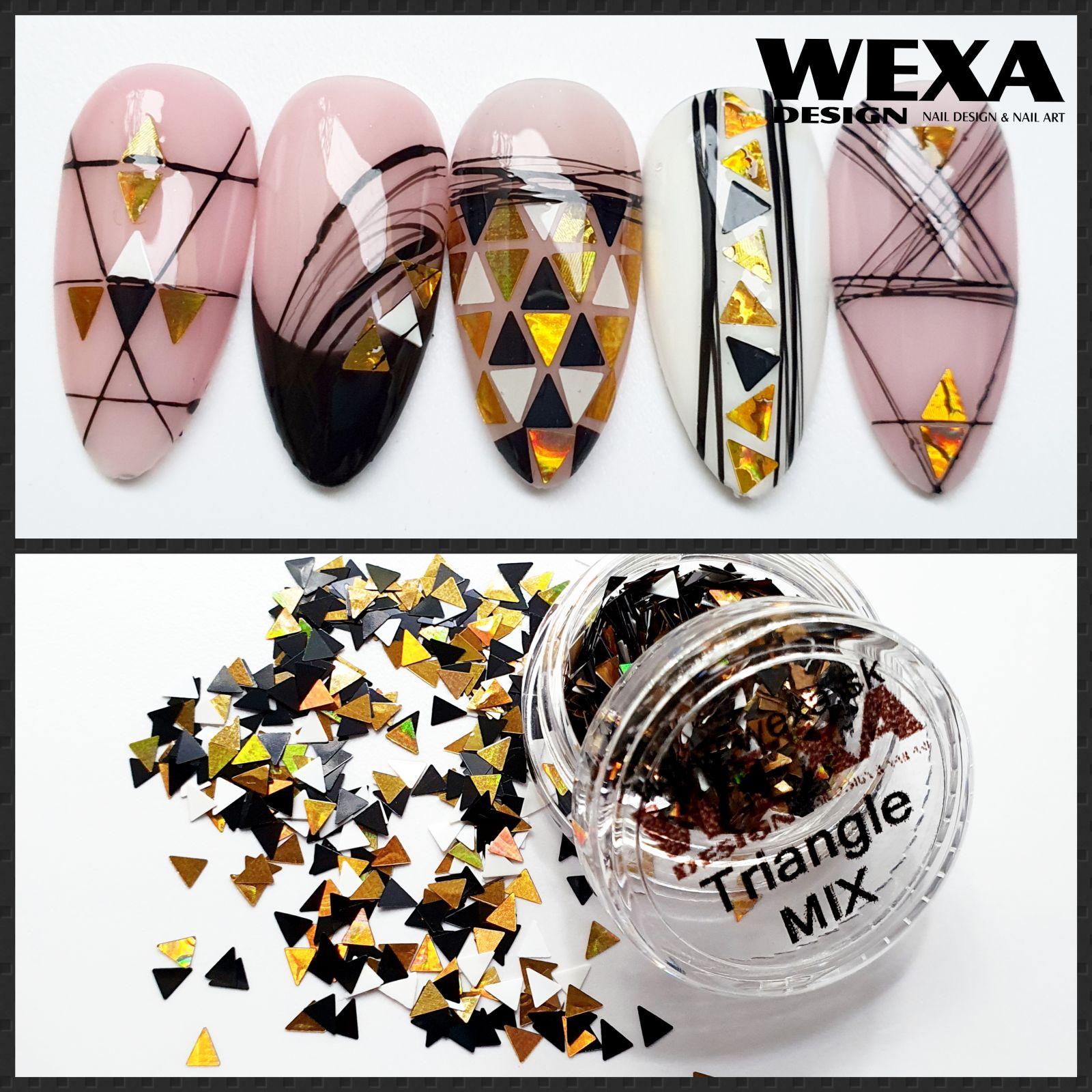 Konfety na zdobenie nechtov - TRIANGLE MIX