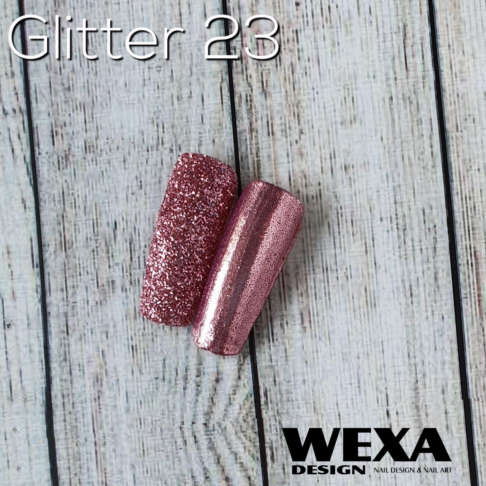 Trblietavý prášok Glitter 23 - Rose