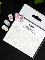 emi NAILCRUST Pattern Slider #58 Narcissuses and orchids