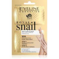 Eveline Royal snail regenerujúci zábal na ruky + Gommage