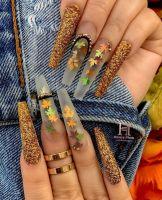 Konfety na zdobenie nechtov - Lístočky MIX