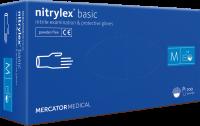 Ochranné rukavice Basic nepudrované modré - 1Box (50párov)   S, M