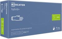 Ochranné rukavice Hybrid+ nepudrované modré - 1Box (50párov)   M