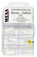 Tipy na nechty - Russia Stiletto  | Natural , Clear, White