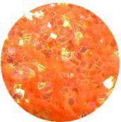 Konfety štvorčeky mini - 4 krikľavo oranžové aqua