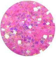 Konfety štvorčeky mini - 6 krikľavo ružové aqua