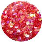 Konfety štvorčeky mini - 8 červené aqua