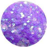 Konfety štvorčeky mini - 9 fialové aqua
