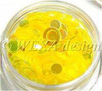Konfety flitre obrúčky - 2 žlté aqua
