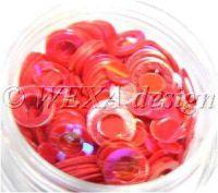 Konfety flitre obrúčky - 8 červené
