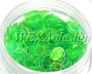 Konfety flitre obrúčky - 11 zelené aqua