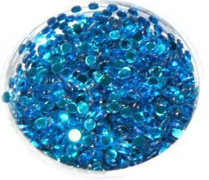 Konfety flitre 3D - 9 tyrkysové