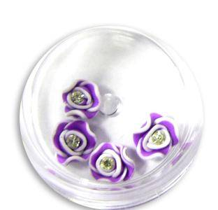 3D ozdoba na nechty - FIMO ružičky