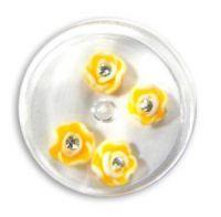 FIMO ružičky s kryštálikom - 2 sýta žltá