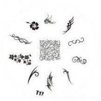 Tribal Stamping Nail Art platnička - T17