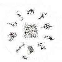 Tribal Stamping Nail Art platnička - T16