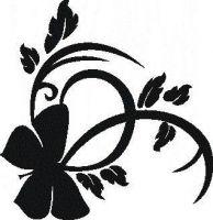 Tattoo šablónka č. 45 - Motýľ beauty