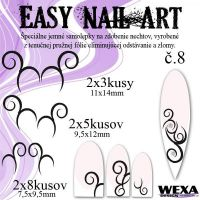 Easy Nail Art č. 8 - biela