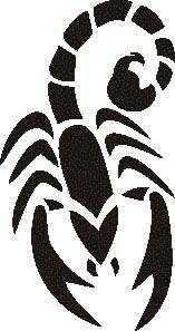 Tattoo šablónka č. 59 - Škorpión