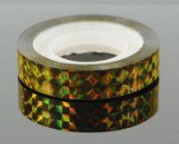 Ozdobná lepiaca páska - zlatá hologram