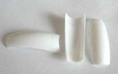 Biele nechtové typy na špičky - BOX 100ks