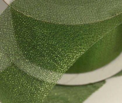Stužka LUREX zelená